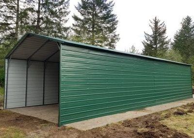 Green Metal Carport
