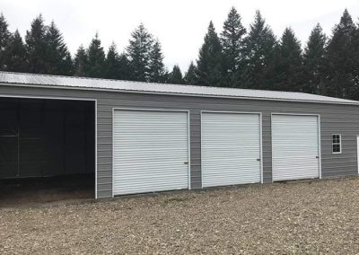 Metal Garage, gray with white