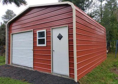 Red Metal Garage